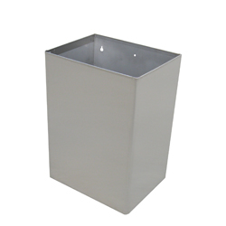 Wall Mount Waste Receptacle - SS Satin Finish